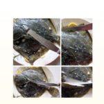Fileren van gegaarde platvis