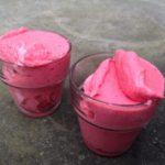 Aardbeien frozenyoghurt