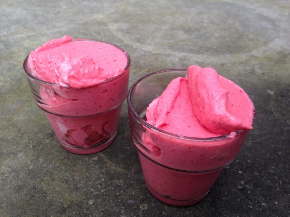 aardbeienframbozenijs