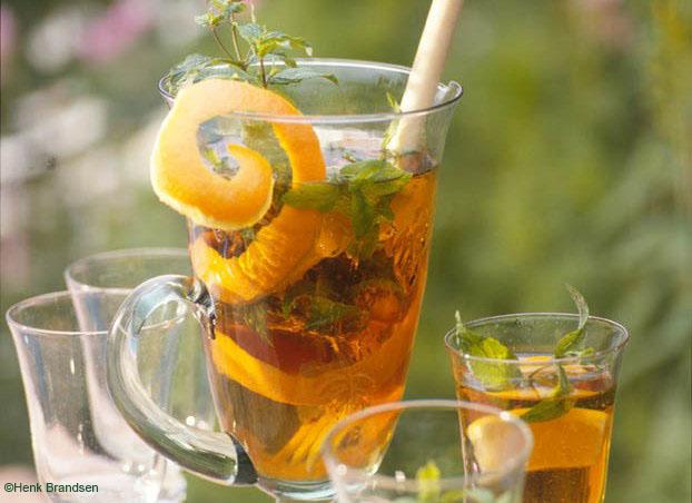 Iced tea with orange&lemon