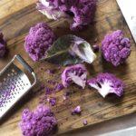 Wauw paarse bloemkool mam!
