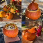 Herfstbbq: gevulde pompoen op Cedarwood